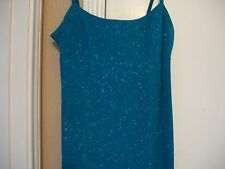 FORMAL EVENING GOWN SIZE LARGE TURQUOISE