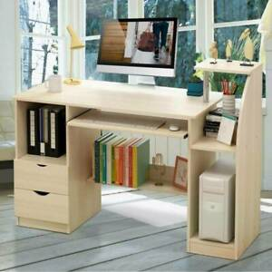 Large Computer Desk PC Table Workstation Home Office Study Furniture With Shelve