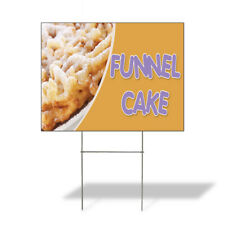 Weatherproof Yard Sign Funnel Cake A Outdoor Advertising Printing Lawn Garden
