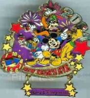 Disney Pin 35667 New Year's Eve Countdown Clock Moving Mickey Donald Goofy LE