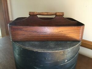 Antique Late 19th Century Shaker Cutlery Tote Box Bent Wood Quality Made