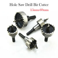 New 15mm to 60mm HSS Hole Saw Tooth Drill Bits Holesaw Cutter for Steel Metal