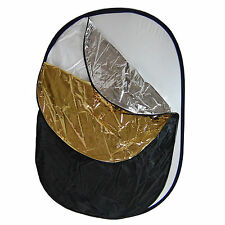 Fondo Reflector Difusor Plegable 5n1 150x200 Blanco Negro Plata Oro