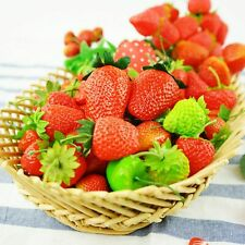 20/100pcs Lifelike Artificial Strawberry Fake Fruit Vegetable Props Home Decor