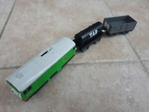 Thomas Trackmaster Boco Train with original trucks, RARE, battery operated TOMY