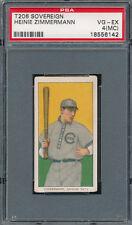 MISCUT T206 SOVEREIGN HEINIE ZIMMERMAN 1910 VINTAGE TOBACCO CARD *PSA 4 VG-EX MC
