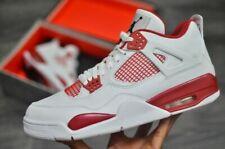 Mens Air Jordan 4 Retro 308497-106 White/Black NEW Size 18