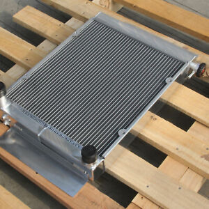 Aluminum Radiator For Mazda RX7 RX5 RX4 RX3 RX2 S1 S2 MT 3 Rows 1975-1983