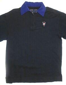 Mens S Escada Sport LS Polo Rugby Shirt Navy Blue Cotton