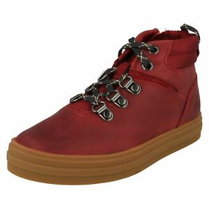 Boys Clarks Lace Up Ankle Boots - Nova Hike K