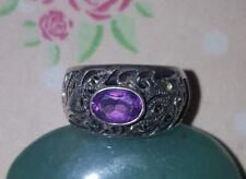 Silberring mit Amethyst Ringgröße 16