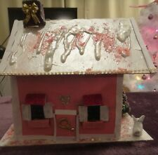 Fairy House Pink and white very sparkly, very cute!