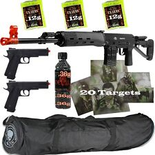 *3 Guns* ALL METAL SVD Airsoft Sniper Rifle 6mm & Pistols & BAG & 60