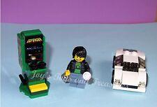 DEFENDER ALIEN ARCADE GAME MINIFIGURE JOYSTICK COIN SODA CAN-MADE OF LEGO BRICKS