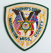 VINTAGE WASHINGTON COUNTY MS SHERRIFF EMBROIDERED PATCH WOVEN CLOTH SEW-ON BADGE