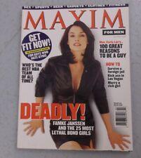 MAXIM MAGAZINE #5 FAMKE JANSSEN BOND GIRL X-MEN  NO LABEL JANUARY FEBRUARY 1998