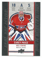 2018-19 UD Tim Hortons Game Day Action #GDA5 Carey Price Montreal Canadiens