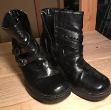 Bongo Women's Booties Size 9 Black Synthetic w/Zipper Double Belt Accent