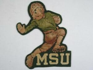 "1940's Michigan State University Football Jacket Crest Patch - 9"""