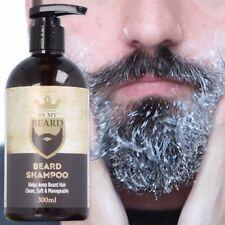 300ml VEGAN BEARD & FACIAL SHAMPOO Man Hair Face Itch Relief Moustache Fuzz Care