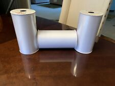 New ListingHis & Hers Brand-6 Inch Sheer Organza Ribbon-25 Yards Per Roll-Lot Of 3- New