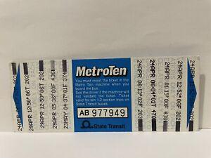 NSW State Transit Metro Ten Blue Bus Ticket for Ten 1-2 Section