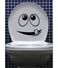 Funny Siège de Toilettes Autocollant Vinyle Art Décalcomanie Cartoon Visage Salle de bain salle de bains