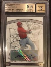 2009 Bowman Sterling MIKE TROUT RC Rookie Signed  BGS 9.5 10 AUTO  Gem Mint
