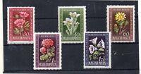 Hungria Flores Serie del año 1950 (DH-312)