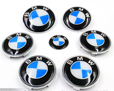 7pc BMW 82mm 74mm Emblem Bonnet Boot Badge Set Hood Trunk E30,E36,E46,3,5,7,X