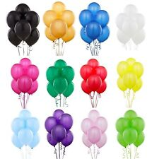 """Christmas Party 12"""" x 100 large plain latex Balloons valentines baloons new year"""