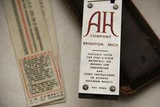 Vintage A H Instrument Co Inc Brighton Mi Portable Hardness Tester Rockwell