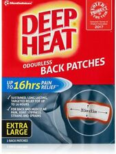 1 x Mentholatum Deep Heat 16 Hour BACK Patches (TWO 9.5 x 26.5cm Patches) Relief