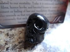 Black Onyx *SKULL* Carved Stone Totem Wiccan Pagan Familiar Metaphysical