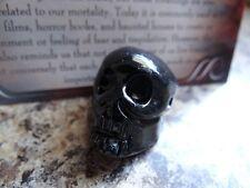 Black Onyx *SKULL*  Carved Stone Figurine Totem (1) FREE Bonus LOOK Wiccan Pagan