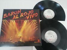"""Baron Rojo Baron al Rojo Vivo 2015 Chapa Discos - 2 x LP 12"""" Vinilo VG/VG"""