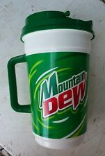 Vtg 90s MOUNTAIN DEW Mt Whirley Insulated Cup Lid refill Pepsi Co USA