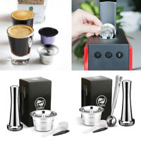 Reusable Filter Coffee Capsule Pods Tamper Maker Stainless Steel For Caffitaly