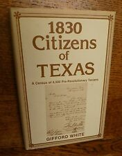 Texas, Genealogy, History, 1830 Census of Citizens