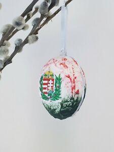 Hungarian armour decoupage plastic egg fillable surprise egg, new, easter decor