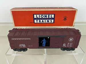 Lionel # 3484 Postwar Pennsylvania OPERATING BOX CAR w Box Instructions O & O27
