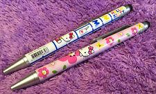 2x Hello Kitty Screen Touch Pens + Mechanical Pencil Stylus Sanrio Gift New Cute