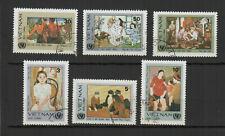 Vietnam 1984 Art moderne vietnamien série de 6 timbres oblitérés /TR8440