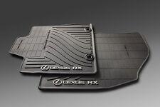 2013-2015 Lexus RX350 All Weather, BLACK Rubber Floor Mats,Genuine, OEM, Factory