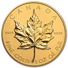 1988 1 oz Gold Canadian Maple Leaf Coin - Brilliant Uncirculated - SKU #81561