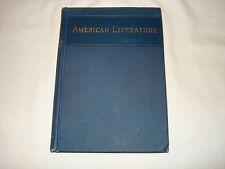 Wonderful 1892 Antique book - American Literature by J. Hawthorne & L. Lemmon