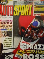 Auto & Sport ROMBO 31 1993 Test nel reparto corse CORRADO VW - Ferrari in German