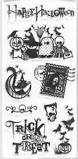 Clear Stamps ~ Happy Halloween Kids Trick Treat 8 pc.