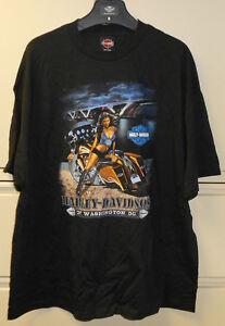 Harley Davidson Men's Pin Up Meet Me At Bottom Black T Shirt