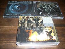 "DIMMU BORGIR LOT/3 CDs & 2 DVDs ""DEATH CULT ARMAGEDDON"",""IN SORTE DIABOLI"" & ..."